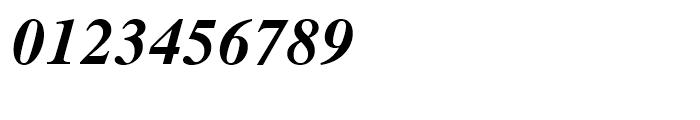Dutch 801 WGL Bold Italic Font OTHER CHARS