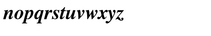 Dutch 801 WGL Bold Italic Font LOWERCASE