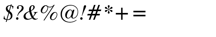 Dutch 801 WGL Italic Font OTHER CHARS