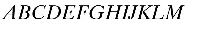 Dutch 801 WGL Italic Font UPPERCASE