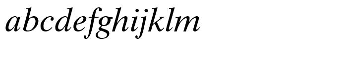 Dutch 801 WGL Italic Font LOWERCASE