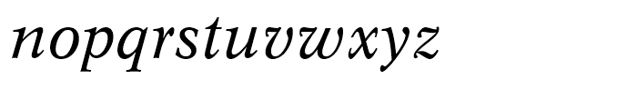 Dutch 809 Italic Font LOWERCASE