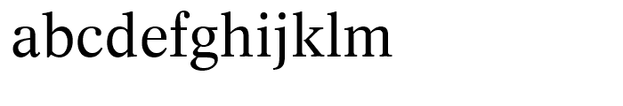 Dutch 809 Roman Font LOWERCASE