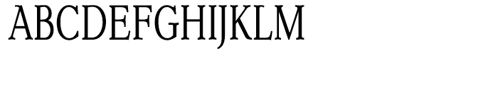 Dutch Mediaeval Condensed Font UPPERCASE
