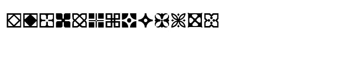 Dutch Mediaeval Ornaments Font LOWERCASE