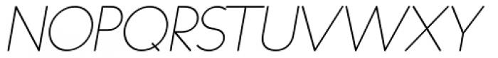 Duase Light Oblique Font UPPERCASE