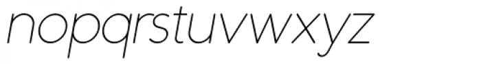 Duase Light Oblique Font LOWERCASE
