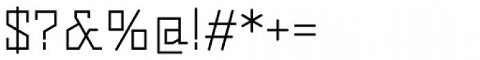 Dubster Light Font OTHER CHARS