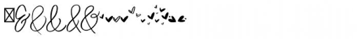 Duckbite Extras Font UPPERCASE