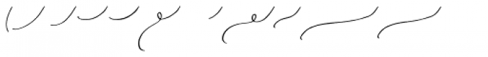 Duckbite Swashes Font LOWERCASE