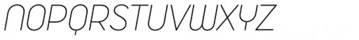 Duepuntozero Pro Extralight Italic Font UPPERCASE