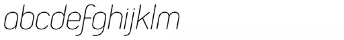 Duepuntozero Pro Extralight Italic Font LOWERCASE