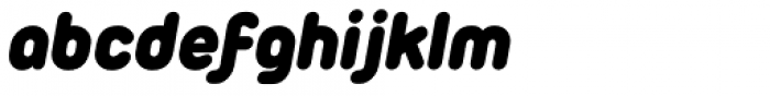 Duepuntozero Pro Heavy Italic Font LOWERCASE