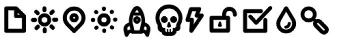 Duepuntozero Pro Icon Bold Font UPPERCASE