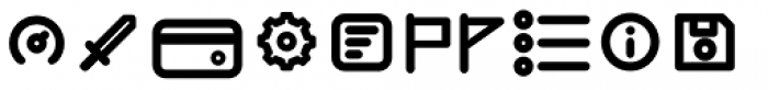 Duepuntozero Pro Icon Bold Font LOWERCASE