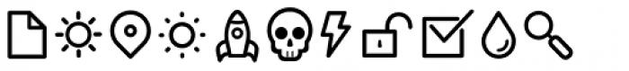 Duepuntozero Pro Icon Book Font UPPERCASE