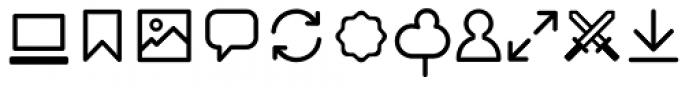 Duepuntozero Pro Icon Book Font LOWERCASE
