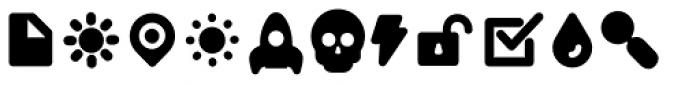 Duepuntozero Pro Icon Extrabold Font UPPERCASE