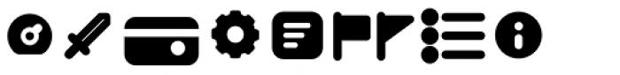 Duepuntozero Pro Icon Extrabold Font LOWERCASE