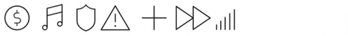 Duepuntozero Pro Icon Extralight Font OTHER CHARS