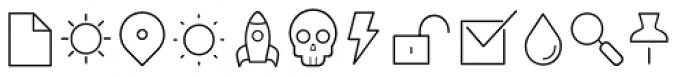 Duepuntozero Pro Icon Extralight Font UPPERCASE