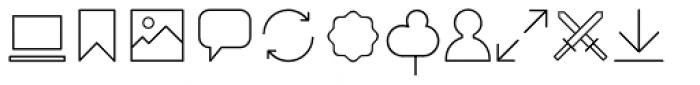 Duepuntozero Pro Icon Extralight Font LOWERCASE