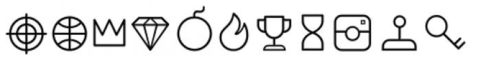 Duepuntozero Pro Icon Light Font UPPERCASE