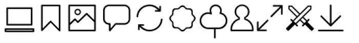 Duepuntozero Pro Icon Light Font LOWERCASE
