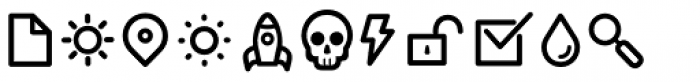 Duepuntozero Pro Icon Regular Font UPPERCASE