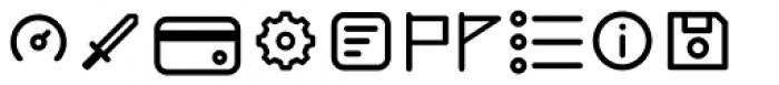 Duepuntozero Pro Icon Regular Font LOWERCASE