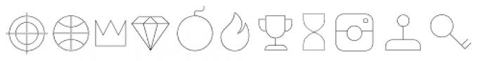 Duepuntozero Pro Icon Thin Font UPPERCASE