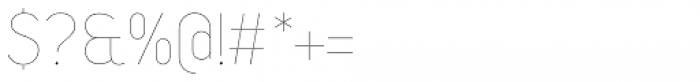Duepuntozero Pro Thin Font OTHER CHARS