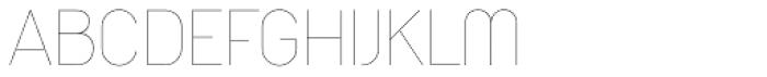Duepuntozero Pro Thin Font UPPERCASE