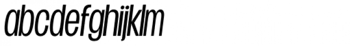 Duera Condensed Light Italic Font LOWERCASE