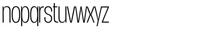 Duera Condensed Thin Font LOWERCASE