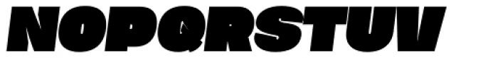 Duera Expanded Black Italic Font UPPERCASE