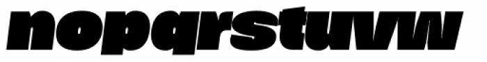 Duera Expanded Black Italic Font LOWERCASE