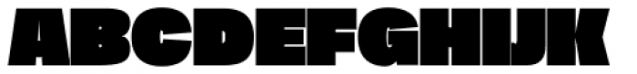 Duera Expanded Black Font UPPERCASE
