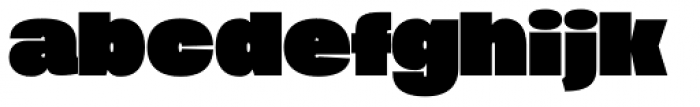 Duera Expanded Black Font LOWERCASE