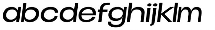 Duera Expanded Light Italic Font LOWERCASE