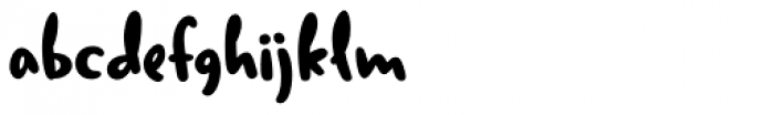 Duffy Script Bold Font LOWERCASE