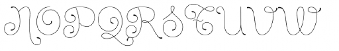Dulce Essential Font UPPERCASE