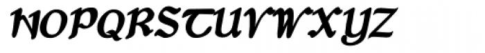 Dumha Goirt Bold Oblique Font UPPERCASE