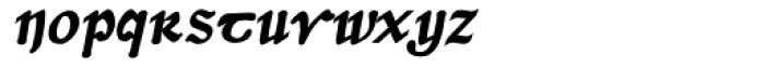 Dumha Goirt Bold Oblique Font LOWERCASE