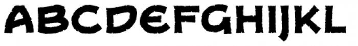 Dungeon Dweller Heavy BB Font LOWERCASE