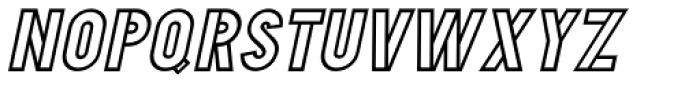 Duonor Oblique JNL Font UPPERCASE