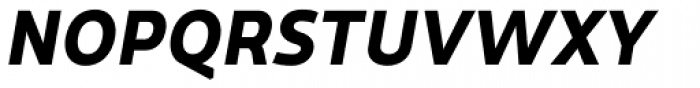 Dupla Heavy Italic Font UPPERCASE