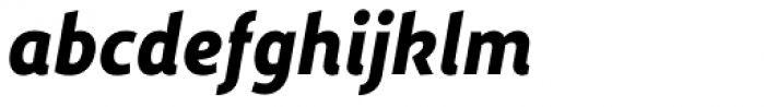 Dupla Heavy Italic Font LOWERCASE