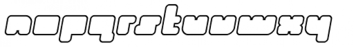 Duro Outline Italic Font LOWERCASE