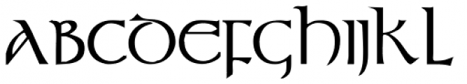Durrow Bold Font UPPERCASE